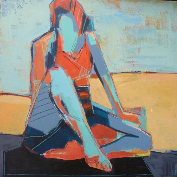 Triangle Pose.AcrylicOnCanvas.40x40.