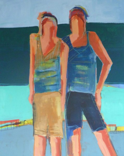 Sisters 60x48 Acrylic on Canvas